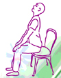 yogafiguurstoel